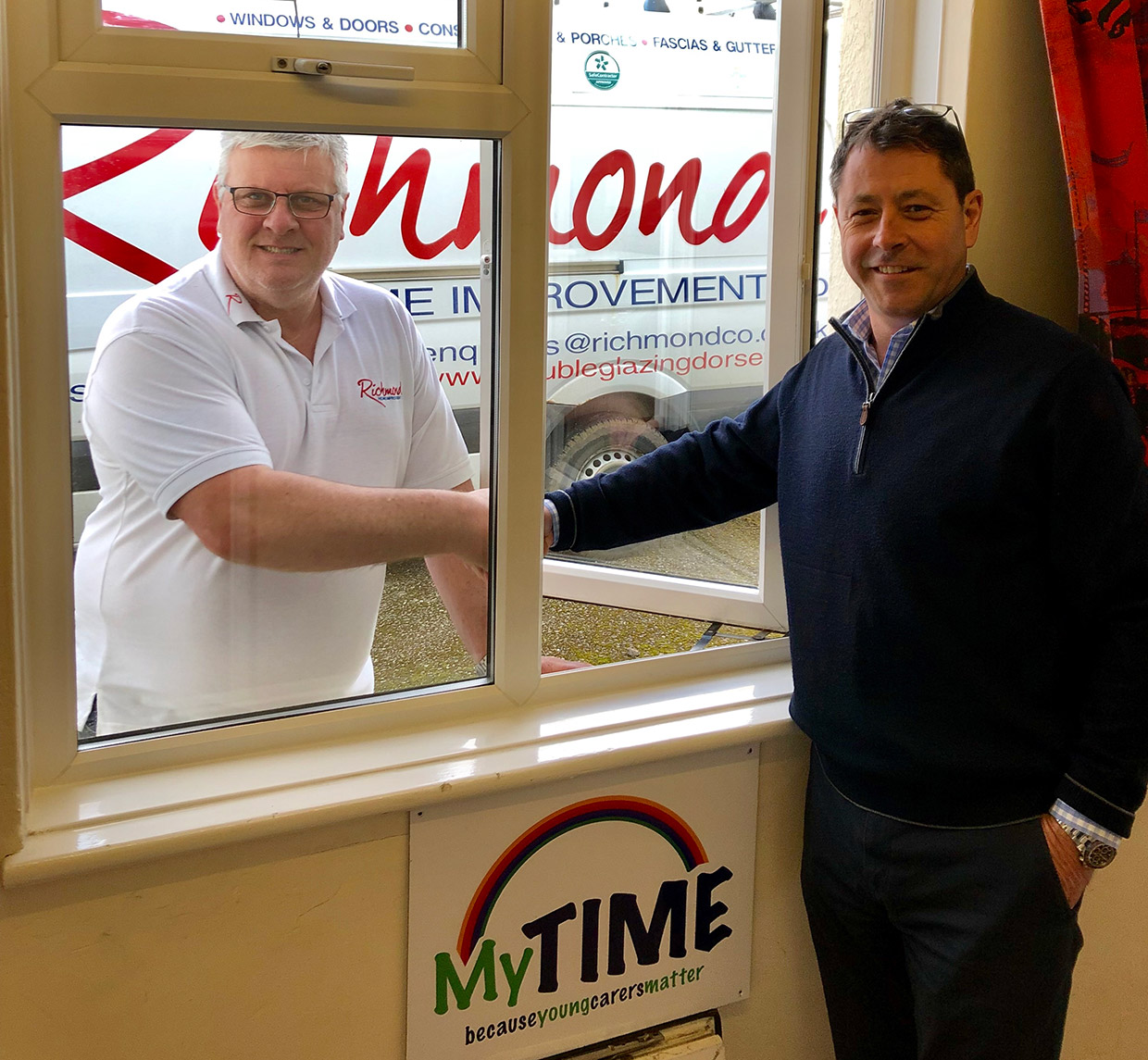 Richmond Supports Local Charity MyTime with replacement double glazed windows in Worth Matravers, Dorset