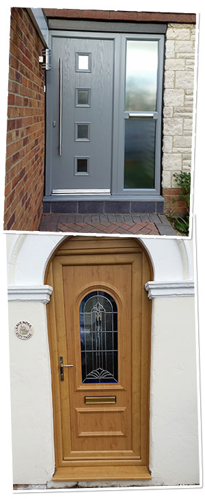 Coloured and wood grain effect UPVC windows & doors